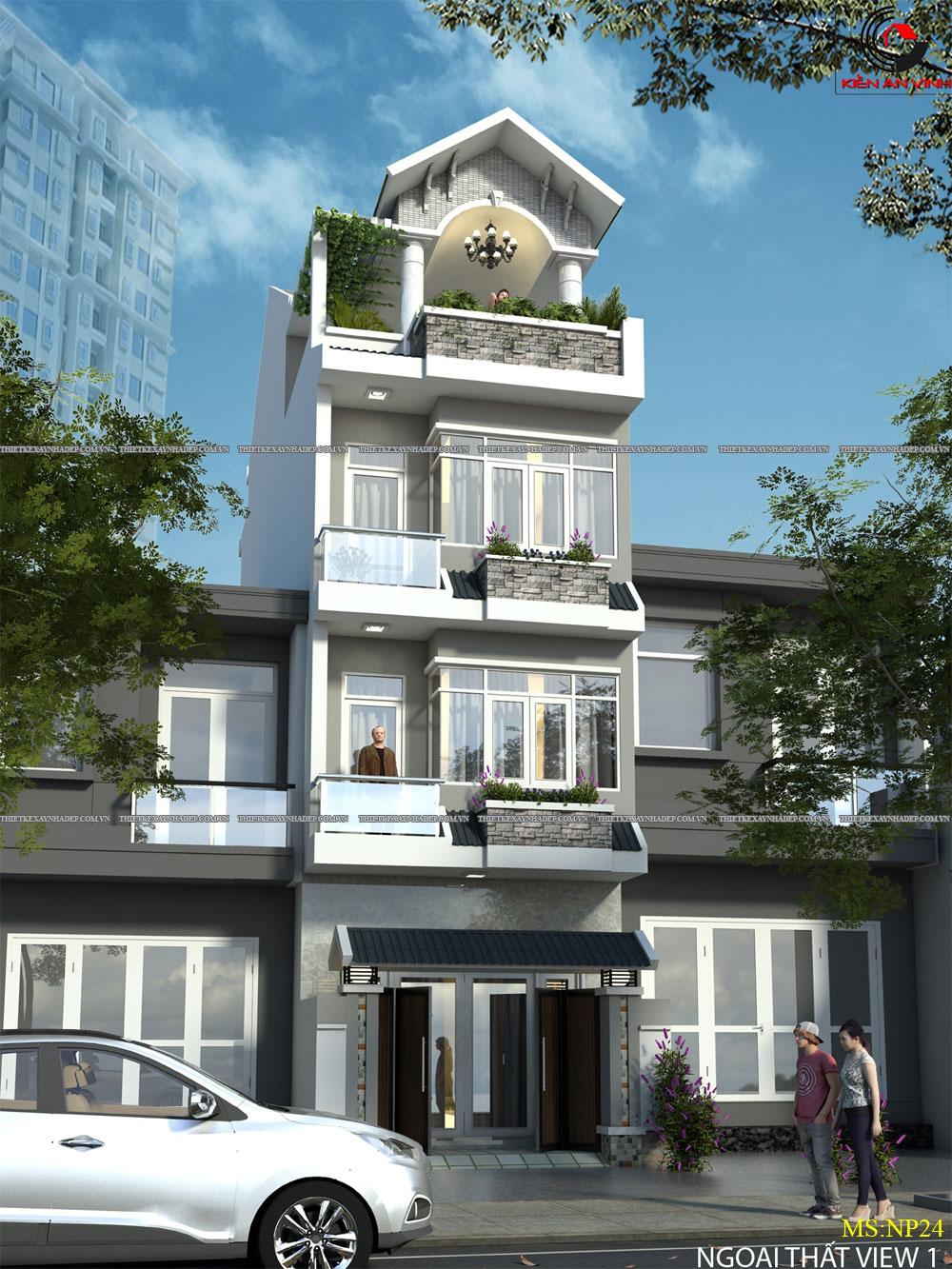 Mẫu thiết kế nhà 2 tầng 1 tum đẹp dt 5x20m ở tỉnh An Giang Thiet-ke-nha-2-tang-5x20