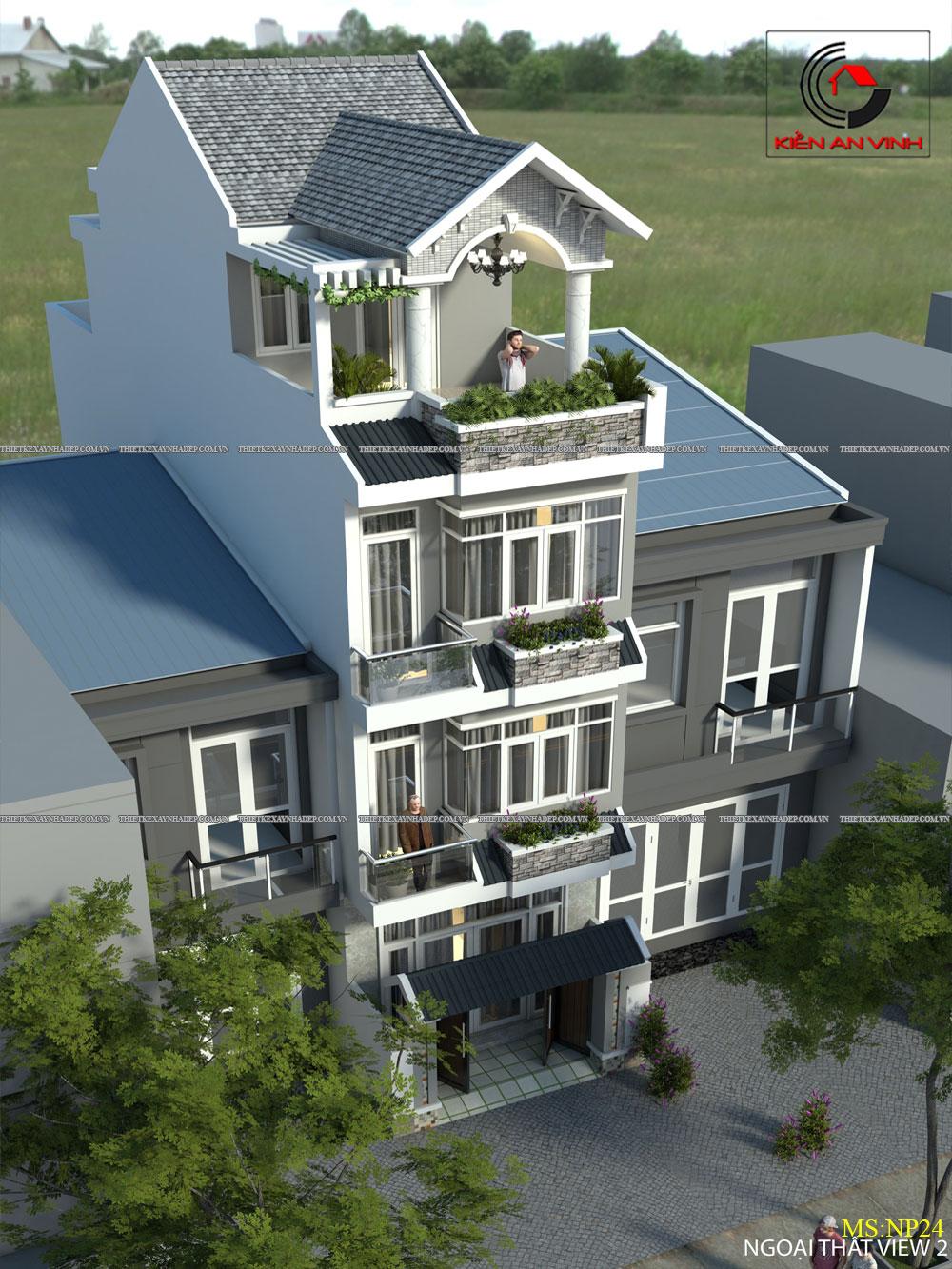 Mẫu thiết kế nhà 2 tầng 1 tum đẹp dt 5x20m ở tỉnh An Giang Thiet-ke-nha-2-tang-5x20m
