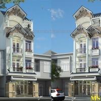 Mẫu nhà 3 tầng đẹp 5x14m thiết kế thời thượng